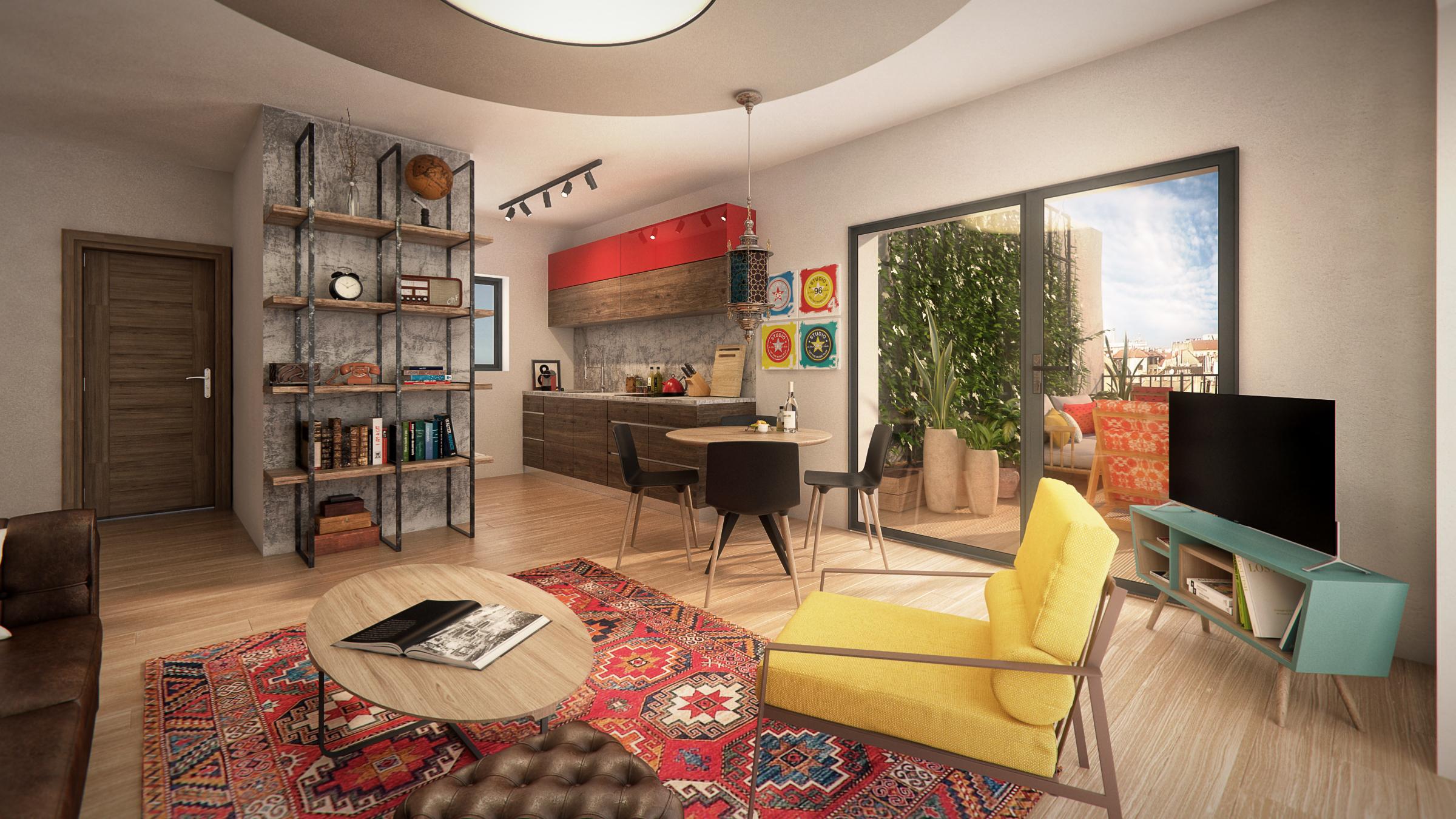 Marone House flat example. Design: http://www.ettigabbay.com/en