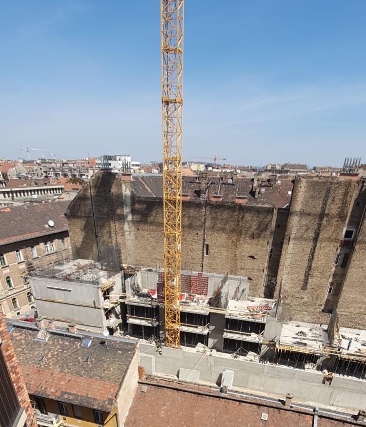 Marone House construction April 2020
