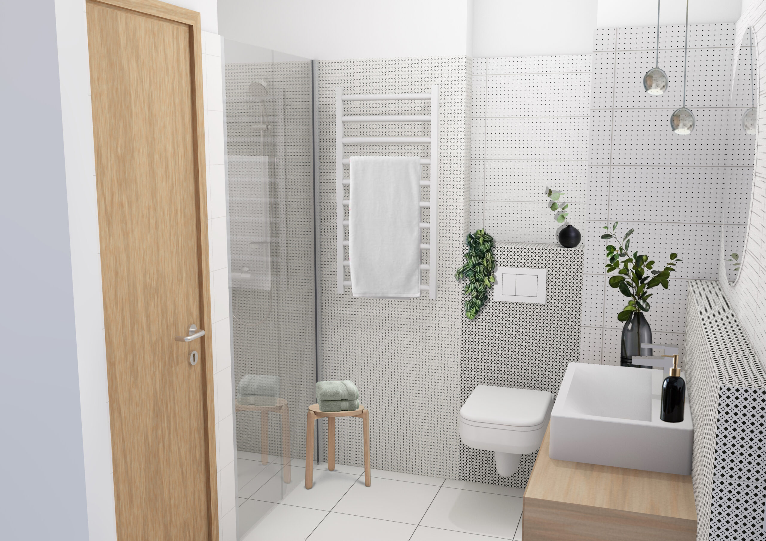 Marone House bathroom (Illustration)