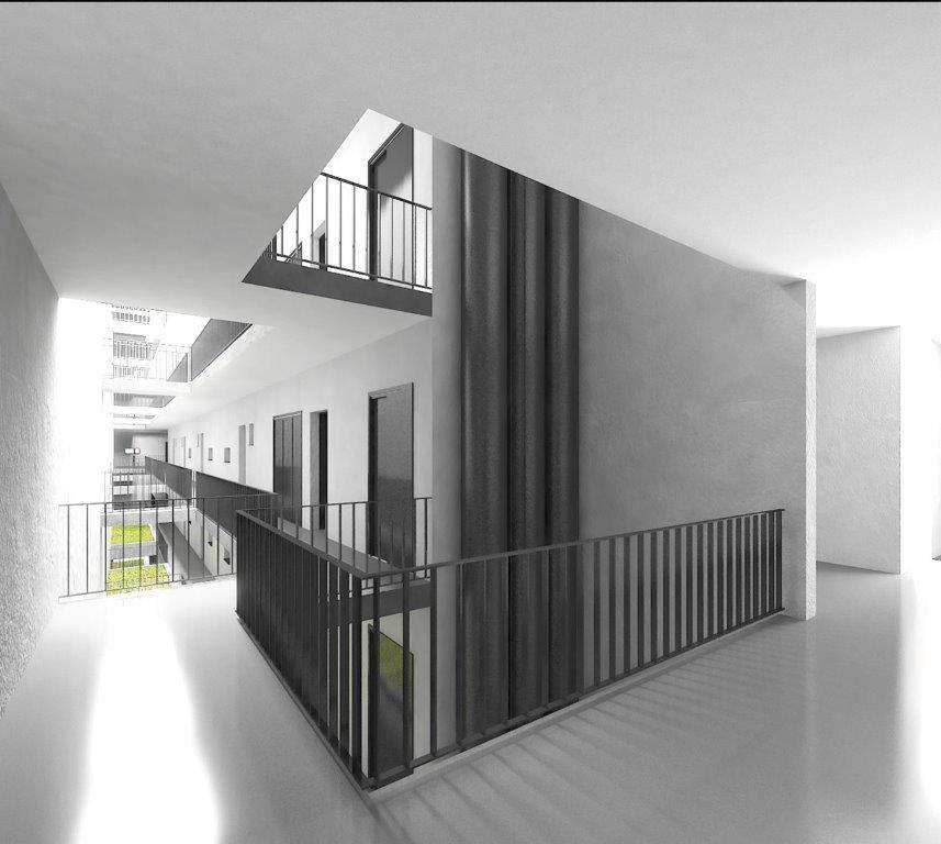 Marone House open corridor
